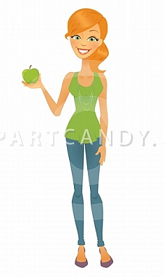 Thin girl clipart png free Skinny woman clipart - ClipartFest png free