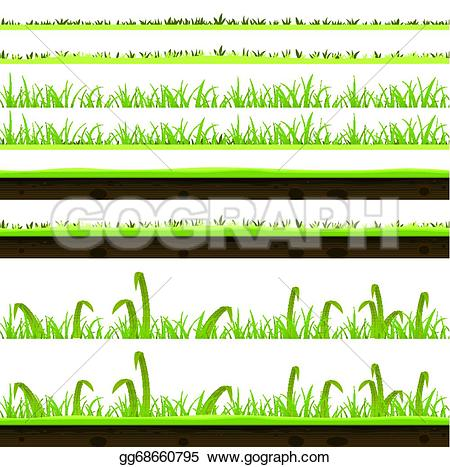 Thin grass clipart image transparent stock Vector Stock - Grass and lawn layers set. Clipart Illustration ... image transparent stock
