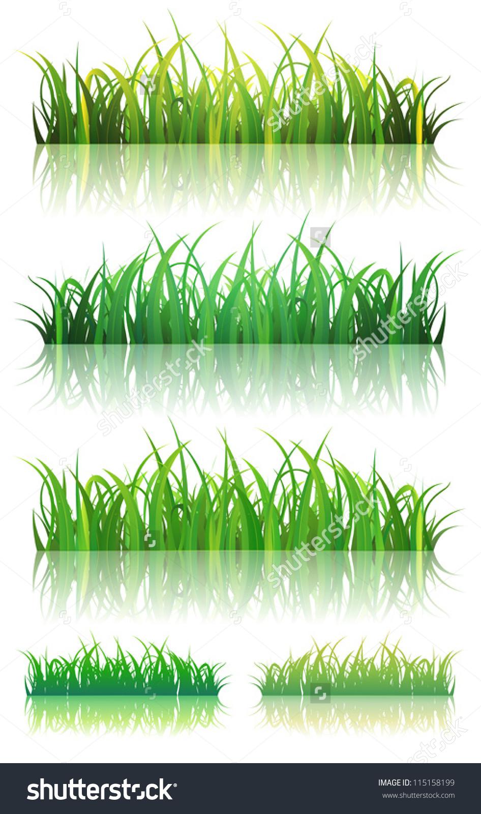 Thin grass clipart freeuse Spring Summer Green Grass Set Illustration Stock Vector 115158199 ... freeuse