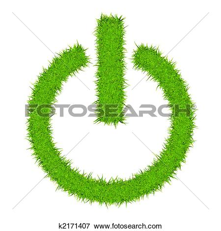 Thin grass clipart png stock Stock Illustration of Grass Power Switch (Thin) k2171407 - Search ... png stock