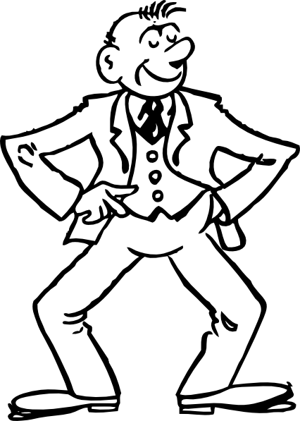Thin man clipart picture library Skinny Man Black And White Clipart - Clipart Kid picture library