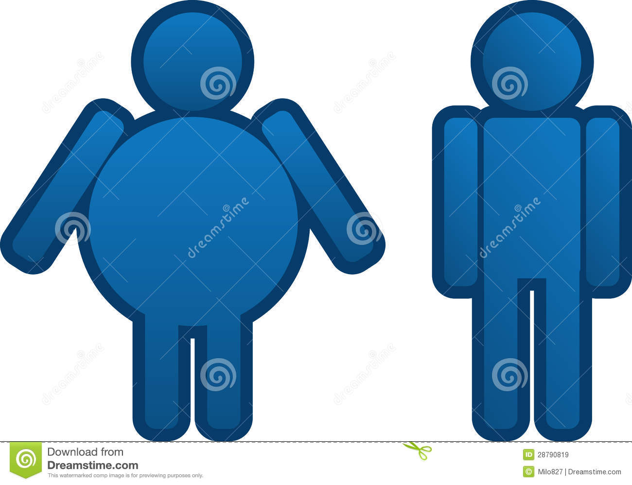 Thin man clipart clipart transparent stock Fat To Thin Man Royalty Free Stock Images - Image: 28790819 clipart transparent stock