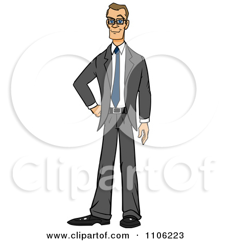 Thin person clipart graphic library download Royalty-Free (RF) Thin Business Man Clipart, Illustrations, Vector ... graphic library download