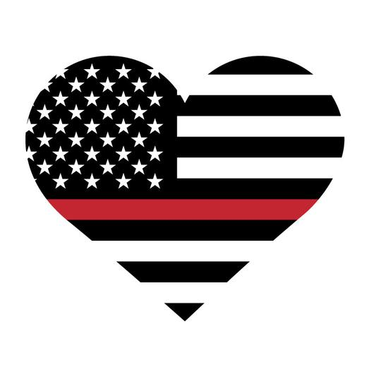 Thin red line clipart vector freeuse Thin Red Line Heart Decal vector freeuse