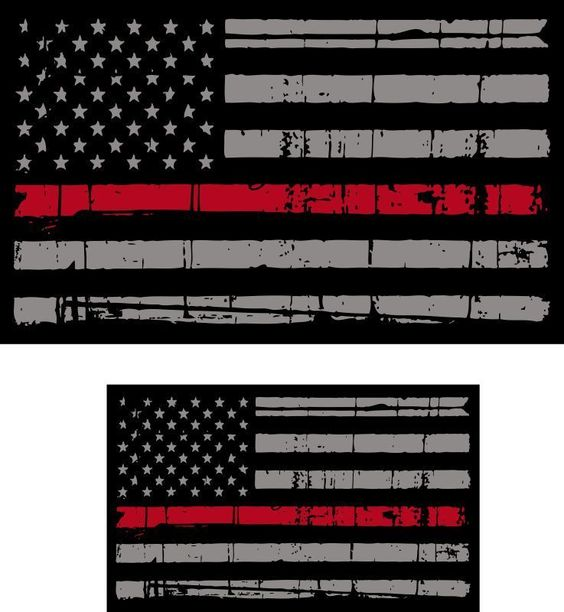 Thin red line clipart svg stock Thin Red Line Decal - Clip Art Library svg stock