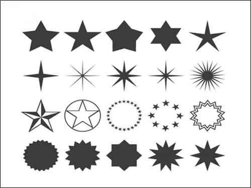Thin star clipart picture royalty free Stars Clip Art: 30 Sets of Free Vector Graphics picture royalty free