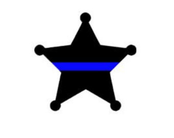 Thin star clipart clip art library library 6 point sheriffs star with thin blue line clipart - ClipartFest clip art library library