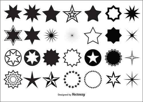 Thin star clipart banner royalty free download Stars Clip Art: 30 Sets of Free Vector Graphics banner royalty free download