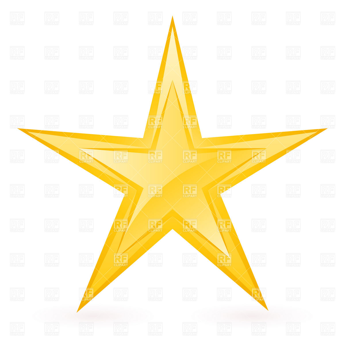 Thin star clipart clipart freeuse stock Shiny thin golden star Vector Image #8280 – RFclipart clipart freeuse stock