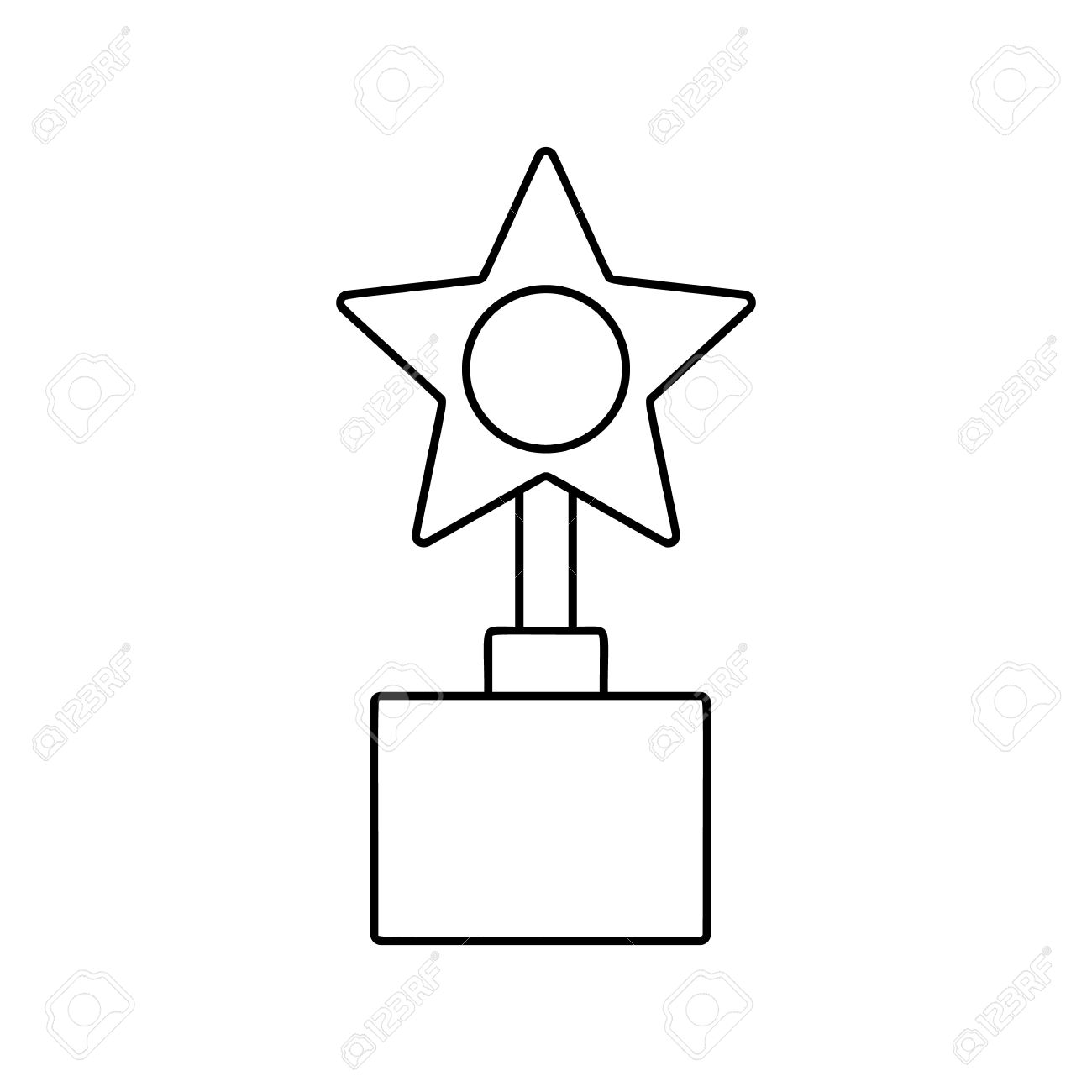 Thin star clipart banner transparent download Star Award Line Icon, Thin Contour On White Background Royalty ... banner transparent download