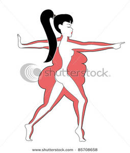 Thin woman clipart vector black and white stock Thin Woman Standing In Front of Her Previous Unhealthy and ... vector black and white stock