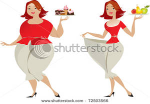 Thin woman clipart picture download Art Image: A Heavy Woman with Cakes and a Thin Woman with Produce picture download