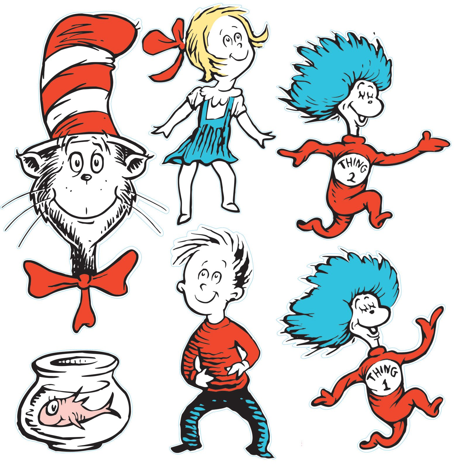 Thing 1 and thing 2 cat in the hat clipart graphic transparent library 17 Best images about cat in the hat on Pinterest | Fondant cat, Dr ... graphic transparent library