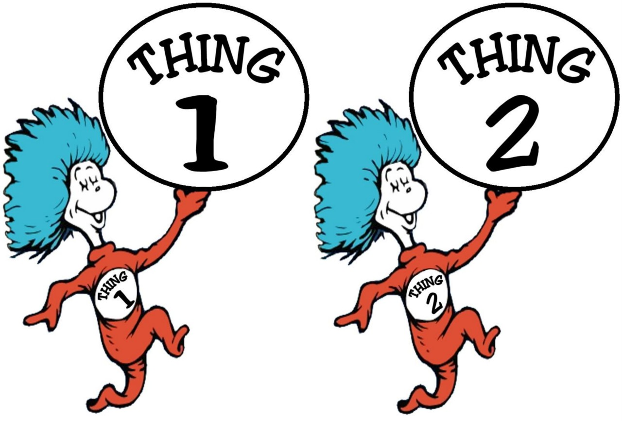 Thing 1 and thing 2 cat in the hat clipart vector library stock Thing 1 And Thing 2 Clipart & Thing 1 And Thing 2 Clip Art Images ... vector library stock
