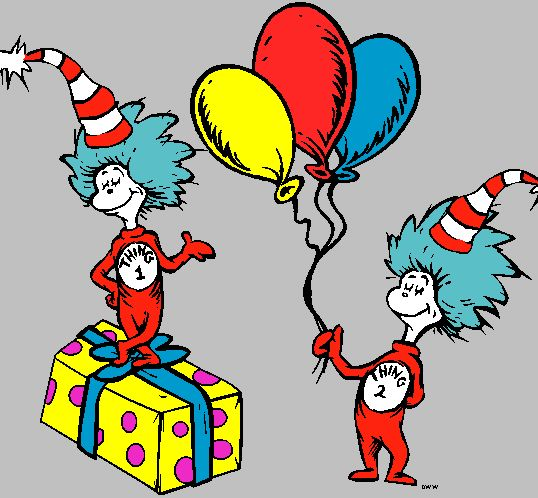 Thing 1 and thing 2 cat in the hat clipart png black and white Cat in the hat thing 1 and 2 printable clip art clipart - Clipartix png black and white