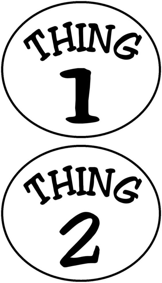 Thing 1 and thing 2 clip art image library Diy Thing 1 Thing 2 Printables - ClipArt Best image library
