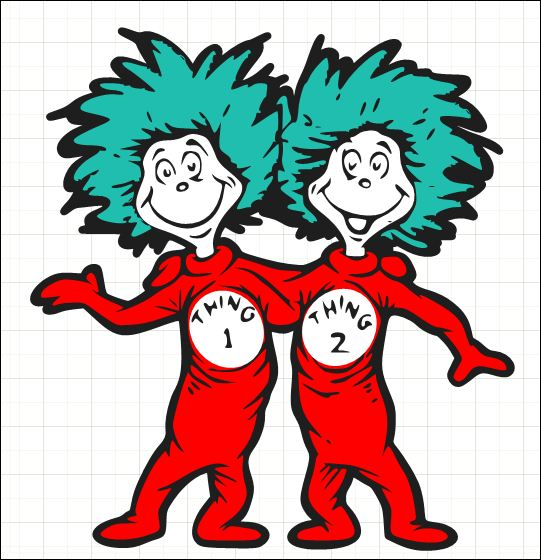 Sitting thing 1 and thing 2 clipart png transparent stock Free Thing One And Thing Two Clipart, Download Free Clip Art ... png transparent stock