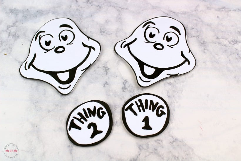 Thing 1 and thing 2 face free clipart clipart transparent library Thing 1 & Thing 2 Puppets! Dr Seuss Crafts + Free Printable ... clipart transparent library
