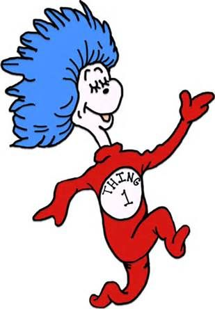 Thing 1 and thing 2 face free clipart image royalty free stock Dr Seuss Coloring Pages Thing 1 And Thing 2 | Clipart Panda ... image royalty free stock