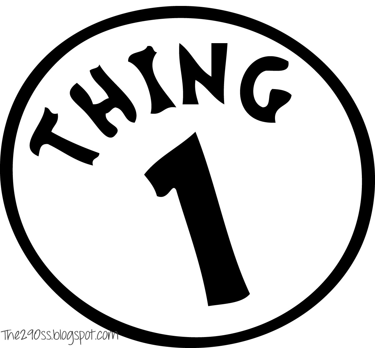Thing 1 and thing 2 logo clipart graphic Diy Thing 1 Thing 2 Printables - ClipArt Best graphic