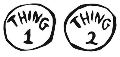Thing 1 and thing 2 logo clipart graphic freeuse library Thing 1 And Thing 2 Black And White Clipart - Clipart Kid graphic freeuse library