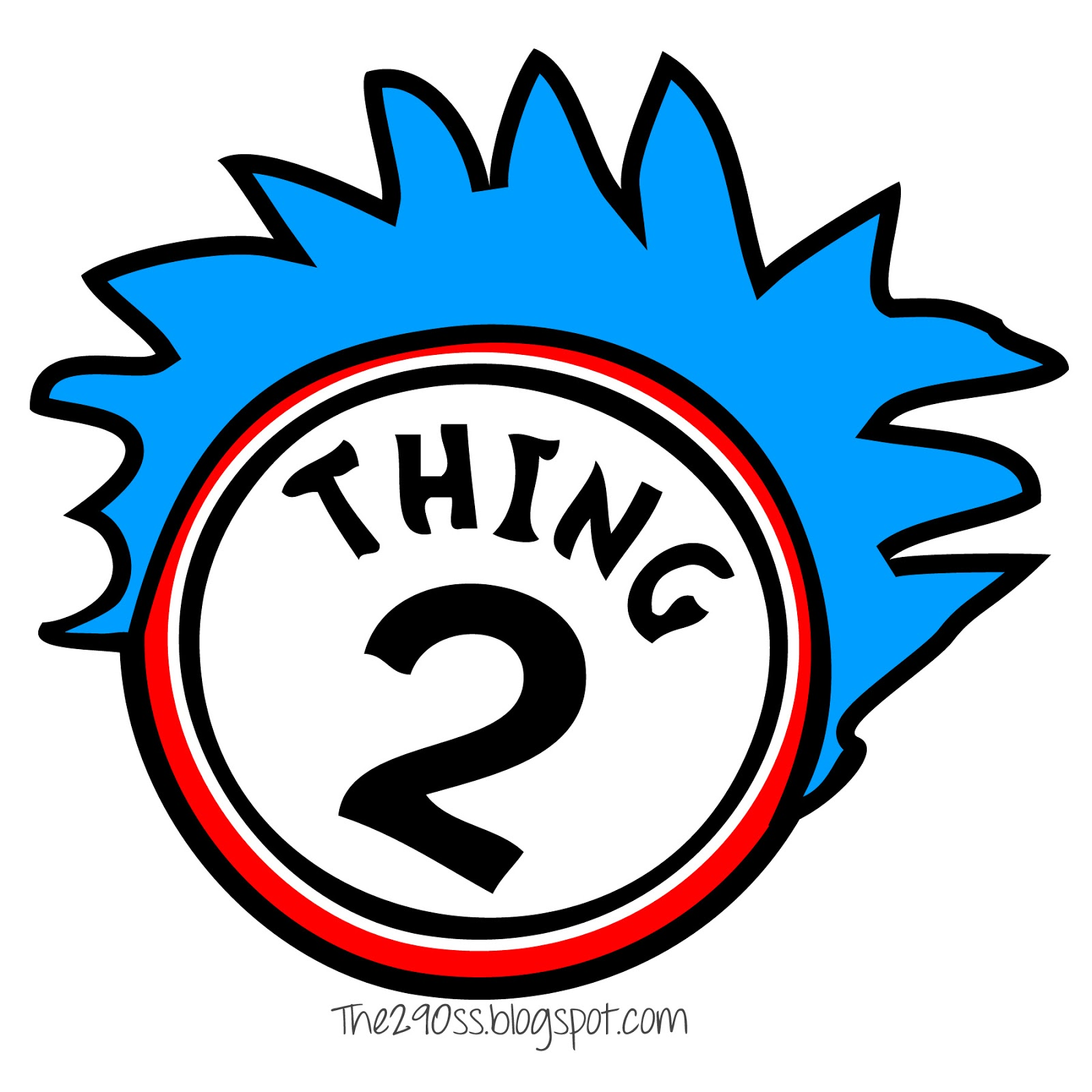 Thing 1 and thing 2 logo clipart svg Thing 1 and thing 2 clipart - ClipartFest svg