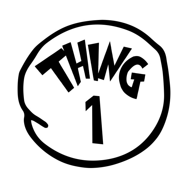 Thing 1 and thing 2 logo clipart vector library stock Thing 1 and Thing 2 shirts. Thing 1 Thing one - Thing 1 And Thing ... vector library stock