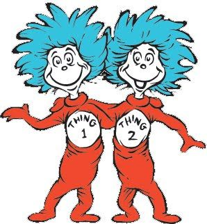 Thing 1 boy and thing 2 girl clipart vector library Thing One and Thing Two | Clip art, Dr. seuss and Craft making vector library