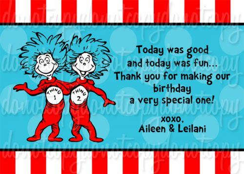 Thing 1 boy and thing 2 girl clipart svg free stock Dr Seuss Thing 1 Thing 2 Birthday Party Invitations | Birthday ... svg free stock
