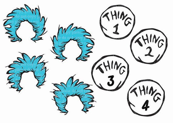 Thing 1 thing 2 clip art png freeuse stock Thing 1 Template. thing 1 and thing 2 printable hair template ... png freeuse stock