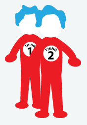 Thing 1 thing 2 clip art graphic royalty free Thing 1 boy and thing 2 girl clipart - ClipartFest graphic royalty free