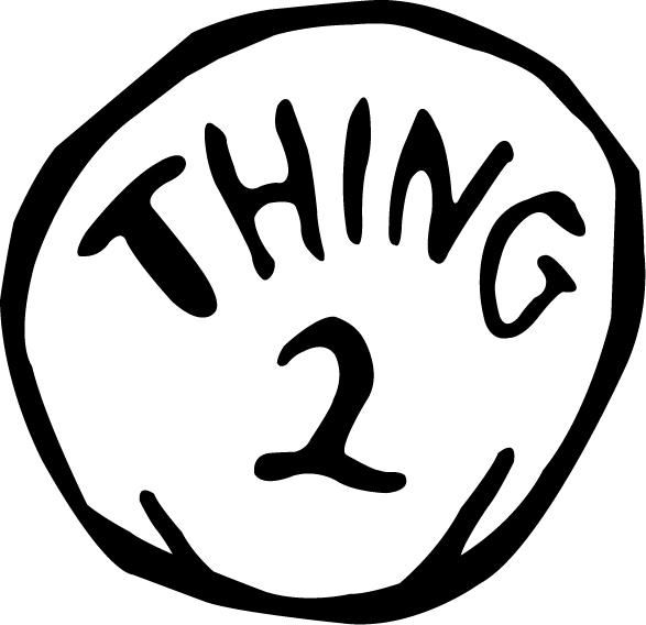 Thing one and thing two clipart black and white jpg library Halloween DIY: Thing 1 & Thing 2 Costume | halloween for ... jpg library