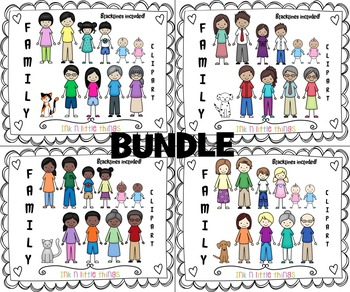 Things i do with my family clipart banner stock Kids Clipart - My Family Clip Art BUNDLE banner stock