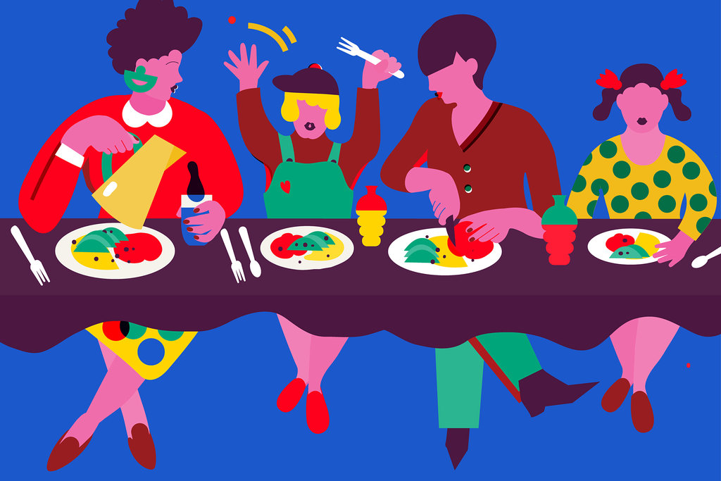 Todler eating on own breakfast time clipart freeuse The Family Table - Well Guides - The New York Times freeuse