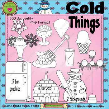 Things that are cold clipart clip art black and white stock Cold Things ClipArt clip art black and white stock
