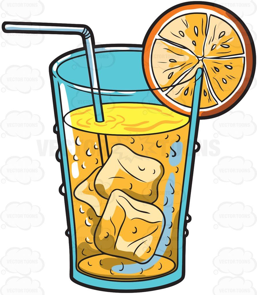 Things that are cold clipart png black and white stock A cold orange juice drink #cartoon #clipart #vector ... png black and white stock