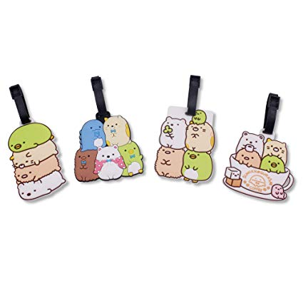 Things that go in a luggage clipart stock Finex Set of 4 San-X Sumikko Gurashi Things in The Corner Travel Luggage  Baggage Identification Labels ID Tag for Bag Suitcase Plane Cruise Ships  with ... stock