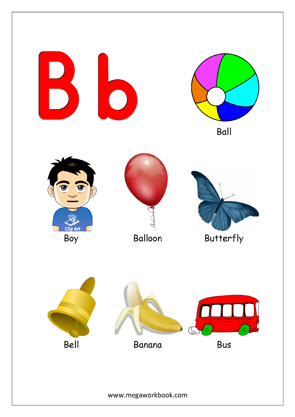 Things that start with h clipart png clipart download Free Printable Alphabet Reading Pages - Things That Start ... clipart download