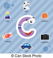 Things that start with the letter c clipart graphic royalty free download Things that start with the letter c on a white background. graphic royalty free download