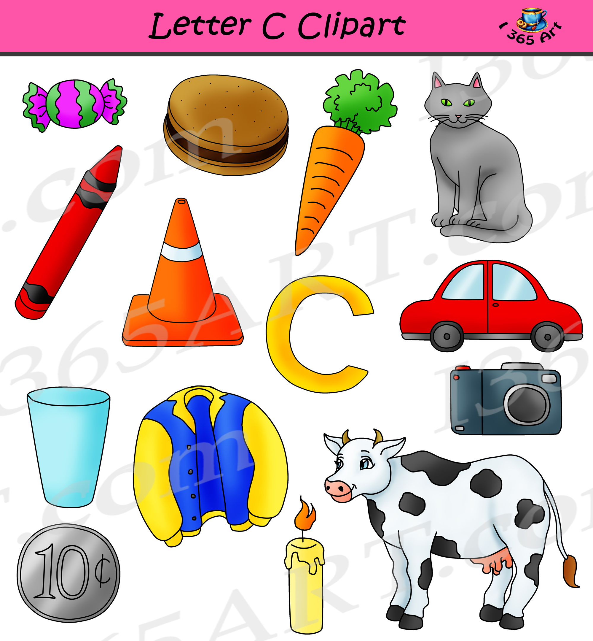 Things that start with the letter c clipart png royalty free download Letter C Clipart - Commercial-Use png royalty free download