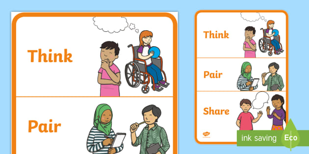 Think pair share clipart picture free library Think Pair Share - think, pair, share, discussion, talk ... picture free library