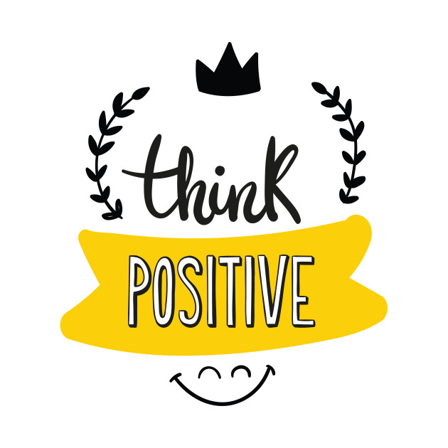 Think positive clipart svg black and white think positive always svg black and white