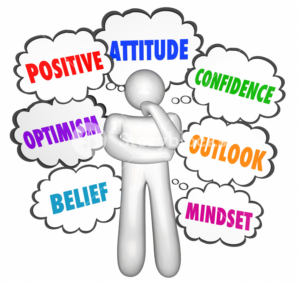 Think positive clipart svg free library Positive Thinking Thought Clouds Thinker Good Attitude ... svg free library
