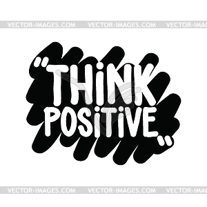 Think positive clipart royalty free Think positive - vector clipart royalty free