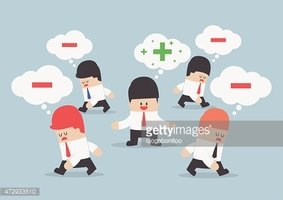 Think positive clipart png download Think Positive Businessman Surrounded BY Negative Thinking ... png download