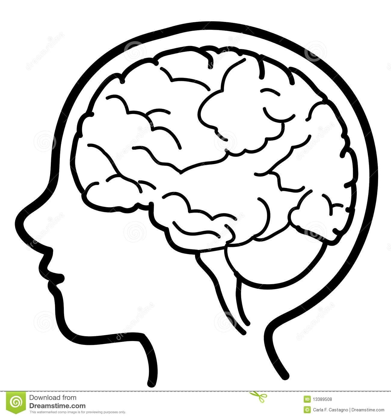 Thinking brain clipart black and white jpg freeuse download Thinking Brain Clipart Black And White Hd   Letters with ... jpg freeuse download