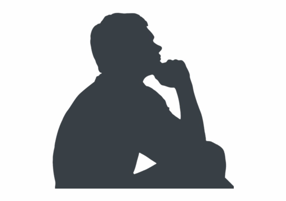 Thinking man silhouette free clipart image free library Man Thinking Silhouette , Png Download - Transparent Man ... image free library