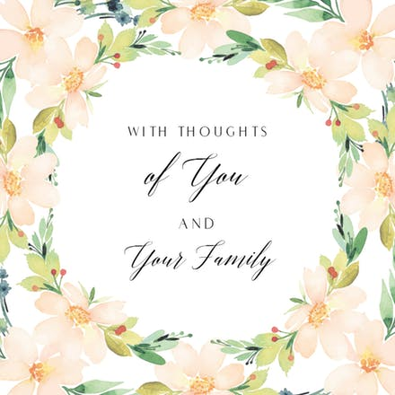 I m sorry for your loss color clipart banner stock Sympathy & Condolences Cards (Free) | Greetings Island banner stock