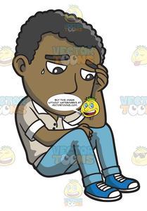 Thinking sad clipart svg free download A Black Man Thinking Of A Sad Thought svg free download