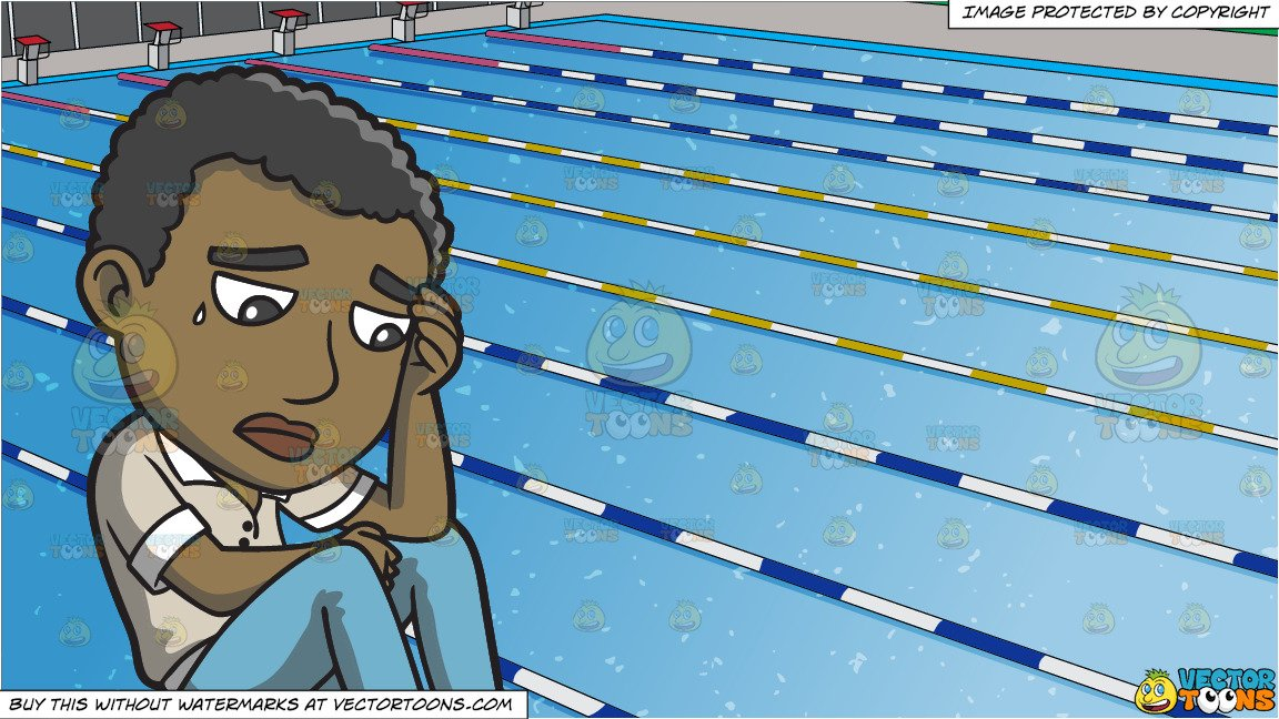 Thinking sad clipart picture royalty free download A Black Man Thinking Of A Sad Thought and Outdoor Competition Swimming Pool  Background picture royalty free download